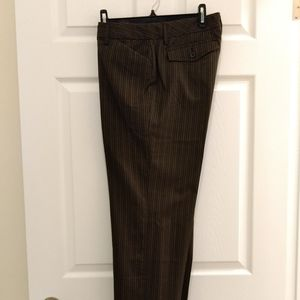 Kenneth Cole brown pin stripe pants NWOT